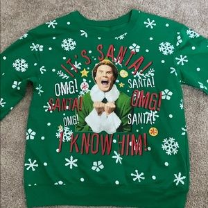 Ugly Christmas sweater with lights